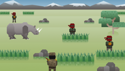 A Newsgame from the UK (http://gamethenews.net/index.php/save-the-rhino-army-vs-poachers/)